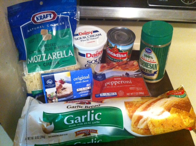 garlic bread pizza ingredients